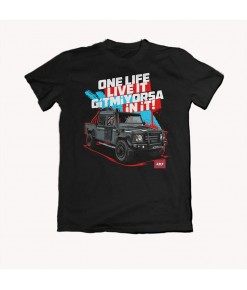 ONE LIFE LIVE IT GİTMİYORSA İN İT ! LAND ROVER DEFENDER TSHİRT - 4X4 DÜNYASI