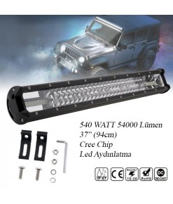 ORD 7D 540 Watt Cree Led 54000 Lümen 94cm (37inc) Led Bar